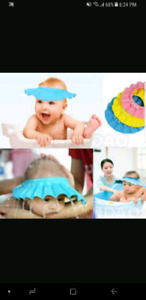Baby shampoo hat and rinse cup