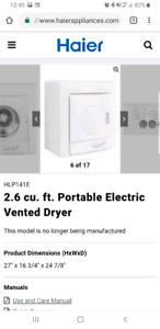 Portable dryer for clothes