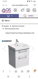 Geberit Bathroom vanity basin included