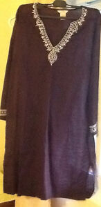 3 DRESSES , 1 SKIRT $8-$10 see all pics  brown JOE linen/cotton