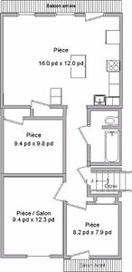 Nice 5½ in Verdun, next to metro. Available Oct. 1st or Nov. 1st