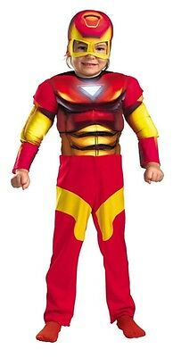 Superhero Squad Iron Man Toddler Costume Marvel Comics Size 3T-4T - Ironman Toddler Costume