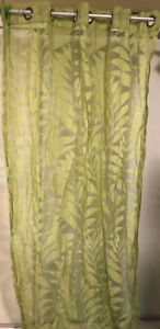 Lime green curtains (4 panels)