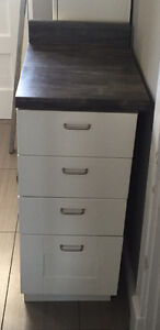 "IKEA SEKTION 15"" base cabinet w/ drawers and countertop"
