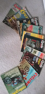 Lot of 10 vintage motorcycle/motocross magazines