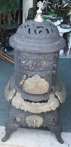 Antique Laurel Farm House Wood Burning Stove