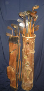 Antique Hickory Shaft Golf Clubs