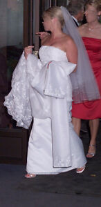 Demitrios Designer White Wedding Dress