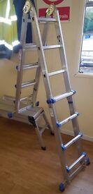 4 Rung Multipurpose / function step ladder and 1m x 30cm step up platform