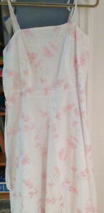 Pretty white and pink cotton dress