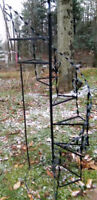 WROUGHT IRON CIRCULAR TIERED PLANT STAND