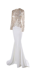 Beautiful Sequin/Mesh Evening Gown Available  in various colours