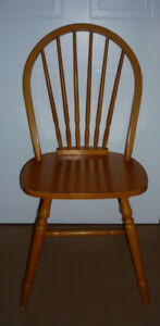 Solid Pine Fan Back Colonial Chair : Sturdy : Strong : As Shown