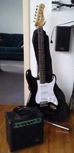 Guitare électrique avec ampli