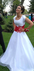 2 formal grad prom dresses with sleeves