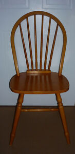 solid pine Fan Back Colonial Wood Chair :Sturdy & Comfortable