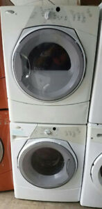 WHIRLPOOL STACKABLE WASHER & DRYER SET H.E 1 YR WARRANTY 800 $$