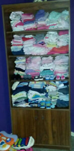 BOX OF  CLEAN SOME NEW CUTE BABY GIRL OR BOY CLOTHS