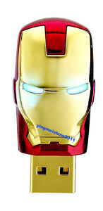 Shinning Eyes!!Iron man model 4-32GB USB 2.0 Enough Memory Stick Flash pen Drive