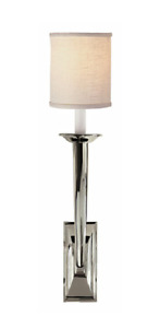 Four polished nickel wall sconces with Currently selling for