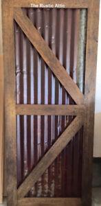 Handcrafted Custom Sliding Barn Doors Rustic Soft Close Bypass