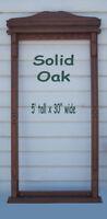 Solid Oak Pool Que Rack