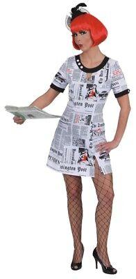 Damen Kostüm Newstime Reporterin als Zeitung zu Karneval Fasching