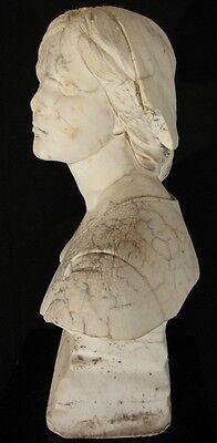 Antike Marmor Büste, 18./19. Jhd., historische Mädchen Büste, Klassik, Barock