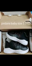 Black and white Baby Nike air Jordans 5.5
