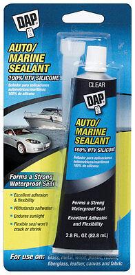 Dap Silicone Rubber Automarine Sealant Clear 2.8 Oz.