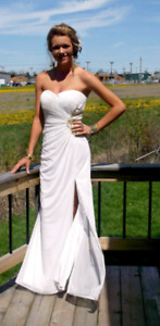 White and Gold Gown