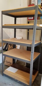 3 Shelving Units and 2 Drawers