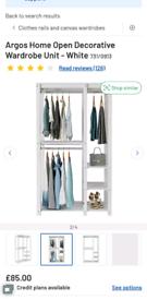 Argos open wardrobe