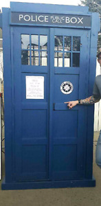 Dr. Who phone booth.