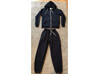 Men's Navy Blue Tracksuit Hoodie / Hoody / Joggers / Bottoms- Good condition - Size small
