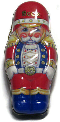 Vintage 1996 See's Candy NUTCRACKER Tin Christmas Holiday Ornament