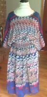 New Kate Hill floral dress midi summer flowers wedding guest 8P