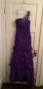 2 Purple Ruffle Tier Asymmetrical, Prom, Bridesmaid Dresses Kitchener / Waterloo Kitchener Area image 6