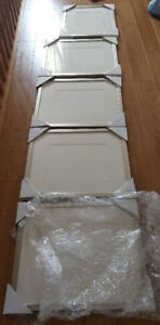 BRAND NEW Silver Photo Frames - 5 pieces - 4 big, 1 smaller