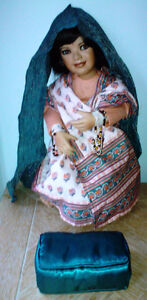 Collectible Porcelain East Indian Doll