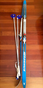Youth's cross-country skis + poles