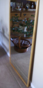 Large Wood-Framed Mirror in Excellent Condition