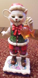 Jim Shore Ornament - Cat with Fish