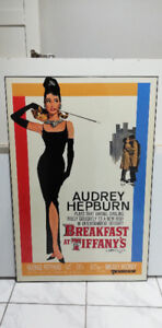 Breakfast at Tiffany's Movie Poster Plaque Mounted