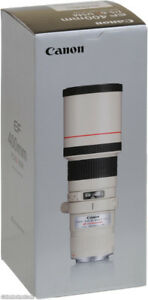 mint canon EF 400 L USM telephoto lens in box