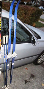Cross Country Skis 170cm, ski Boots and poles
