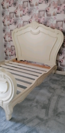 Cream double French style bed for sale