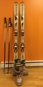 Rossignol ski package - skis, poles and women's size 9 boots