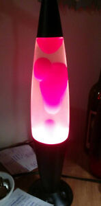 Lava Lamp - Red/Clear