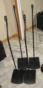 4 Bose Standard Acoustimass Double Cube Speaker stands